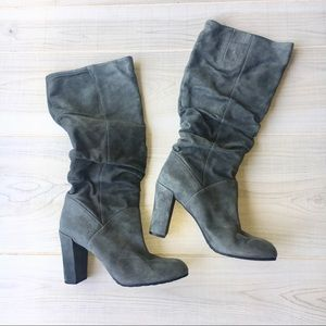 Nine West gray Shiryl suede slouch boots